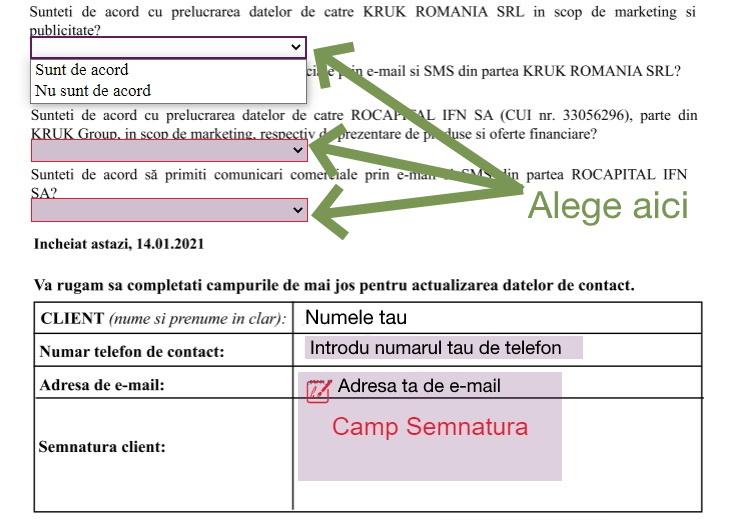 KRUK Romania date personale